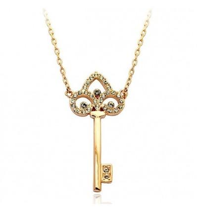 Soul Key - Colier placat cu aur si cristale