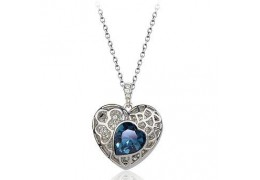 Blue Heart - Colier cu cristale Swarovski