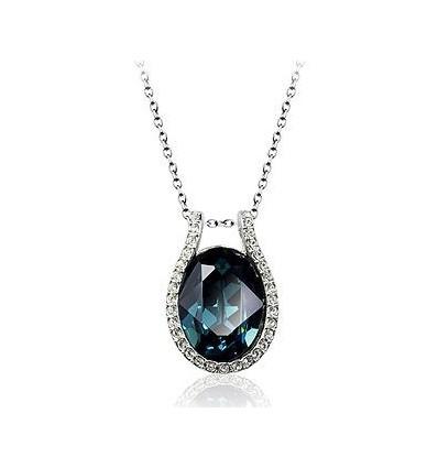 Blue Tear - colier cu cristale Swarovski
