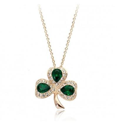 Green Luck - colier cu cristale Swarovski
