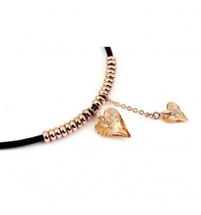 Valentine Love - colier placat cu aur si cristale Swarovski