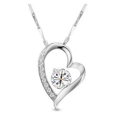 Love me tender - pandantiv de argint cu cristale de zirconiu