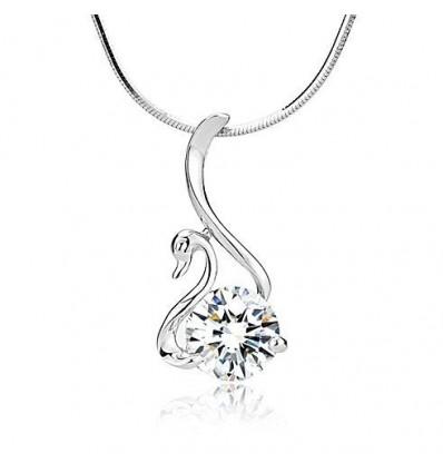 Silver Swan - colier de argint cu cristale de zirconiu
