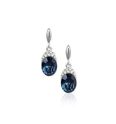 Blue Crystal Drops - cercei cu cristale austriece