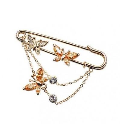 Golden Spring - brosa cu cristale Swarovski