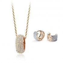 Gold Elegance - set de cercei si colier placat cu aur