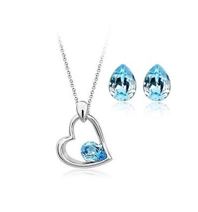 Blue Sky - set colier si cercei cu cristale Swarovski