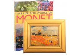 "Tablou ""Campul cu maci"" Claude Monet si album de arta"