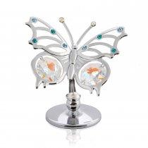 Fluturas cu cristale Swarovski aqua