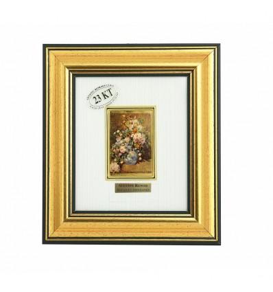 "Tablou ""Buchet de primavara"" Renoir - pe foita de aur de 23 Kt."