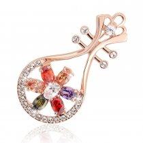 Mandolina - brosa cu cristale