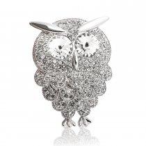 Crystal Owl - brosa cu cristale Swarovski