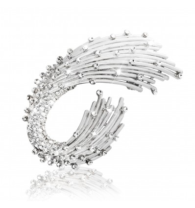 Silver Wings - brosa cu cristale Swarovski
