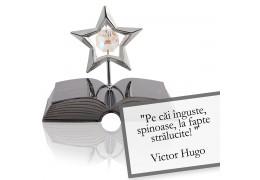 Victor Hugo - despre curaj - Colectia citate motivationale cu cristale Swarovski