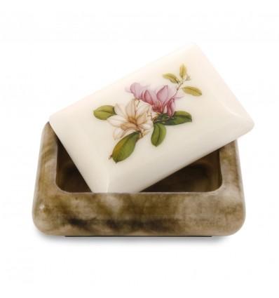 Magnolii - Caseta bijuterii din alabastru