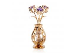 Vaza cu lalele si cristale Swarovski