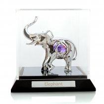 Elefant cu cristale Swarovski in caseta
