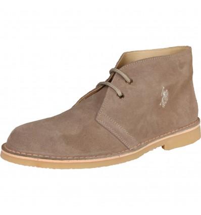 Pantofi din piele gri U.S. Polo