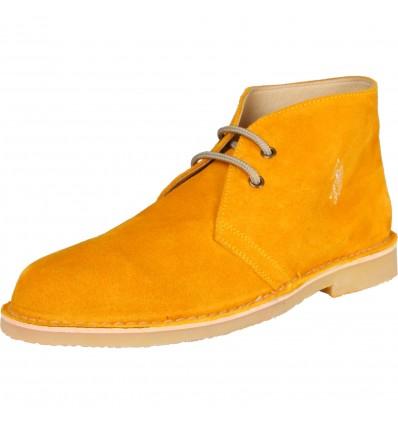 Pantofi din piele U.S. Polo - galben ocru