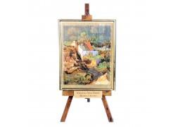 """Casa la Auvers"" - Vincent Van Gogh - Litografie pe foita de aur"