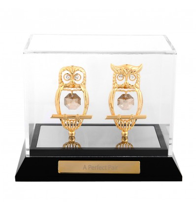 Bufnite cu cristale Swarovski in caseta