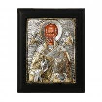 Icoana lucrata in argint cu Sfantul Nicolae