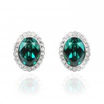 Green passion - cercei cu cristale Swarovski