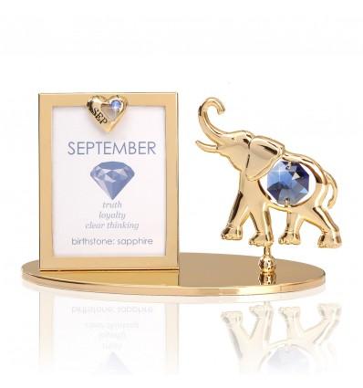 Rama foto Piatra norocoasa  Septembrie cu cristale Swarovski