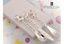Set 3 piese tacamuri argintate - colectia Twinkle