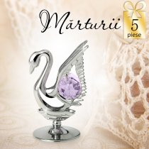 Lebada cu cristale Swarovski - oferta de 5 marturii nunta