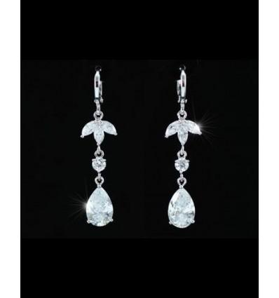 Dangling - cercei cu cristale Cubic Zirconia