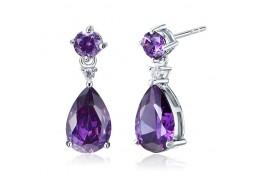 Cercei din argint 925 Simulated Purple Sapphire
