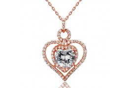 Colier din argint 925 Rose Gold Heart