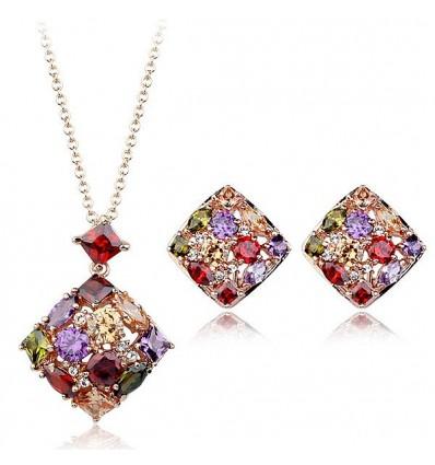 """Set de bijuterii cu cristale cubic zirconia """"Rainbow"""""""