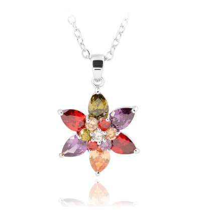 "Colier made with Swarovski elements ""'Floare de colt"""