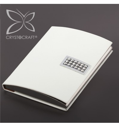 Port card din piele si cristale Swarovski