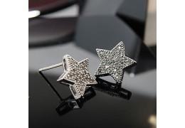 Cercei steluta cu cristale austriece placati cu platina - Shining Star