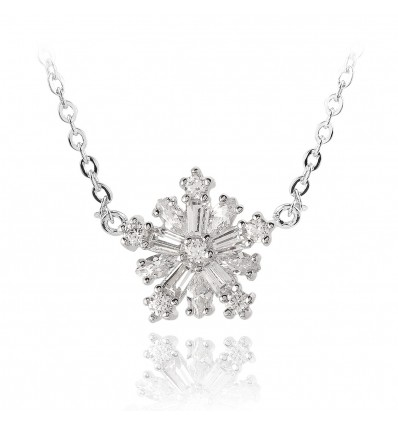 Colier Crystal Snowflake