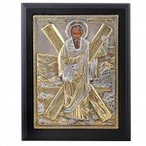 Sf. Andrei - Icoana lucrata in argint 925 si aur 24Kt