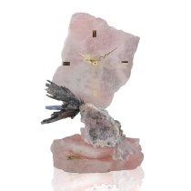 Ceas pe roca din quartz roz Colectia Ebano