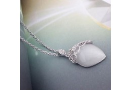 "Colier cu cristale Swarovski Elements - ""Misty Morning"""