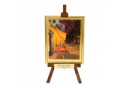 """""""Terasa Cafenelei Noaptea"""" -  Vincent Van Gogh - Litografie pe foita de aur"""
