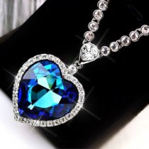"Colier cu cristale Swarovski Elements "" Heart of the Ocean"""