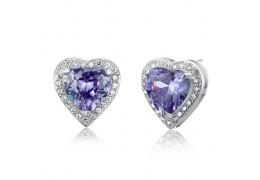 """Cercei din argint 925 """"Simulated Purple Sapphire"""""""