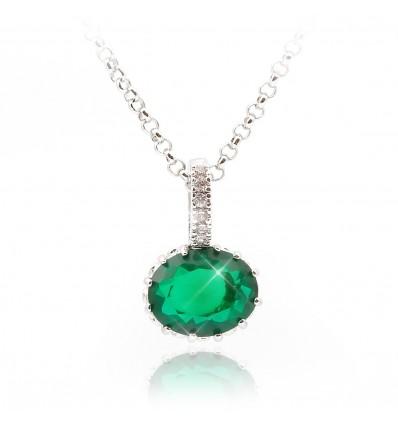 "Colier cu cristale Swarovski ""Lovely Emerald"" - PARURE Milano"