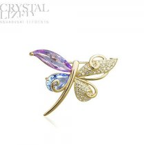 "Brosa cu cristale Swarovski Elements - ""Butterfly Dreams"""