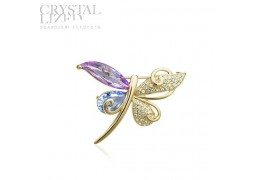 "Brosa cu cristale Swarovski Elements - ""Butterfly Dreams"""