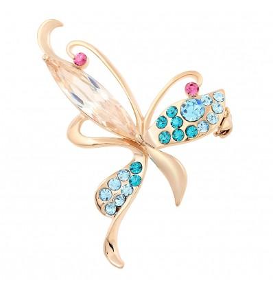 """Brosa placata cu aur - """"Elegant Butterfly"""""""