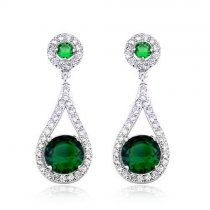 "Cercei cu cristale Swarovski Elements - ""Emerald City"""