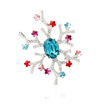 "Brosa cu cristale Swarovski - ""Spring Blossom"""